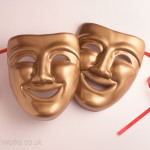 Gold Theatrical Masks