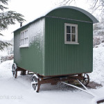 Shepherds Hut in the Snow