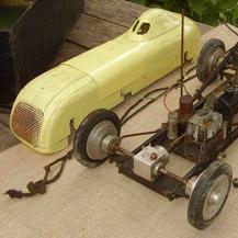 Unrestored Model Tether Car